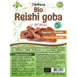 REISHI goba (Ganoderma lucidum), v prahu (BIO)