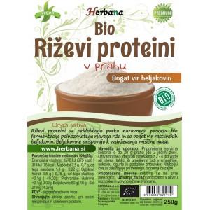 RIŽEVI proteini - v prahu (BIO)