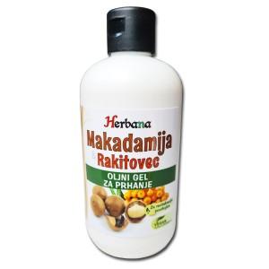 MAKADAMIJA & RAKITOVEC - Naravno kremno olje za prhanje